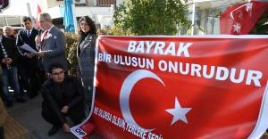 Karşıyaka'dan bayrak yırtan ırkçı vekile tepki
