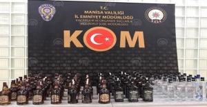 Manisa'da kaçak içki operasyonunda 2 kişi yakalandı
