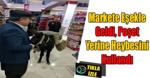Paralı poşete en ilginç protesto Niğde'den geldi