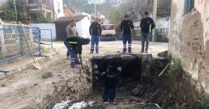Selçuk'ta çöken yağmur suyu hattı onarıldı