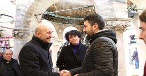 """Soyer: """"Kemeraltı'nı baştan sonra restore ederek UNESCO Dünya Kültür Mirası olmasını sağlayacağız."""""""