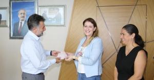 Toplumsal Cinsiyet Eşitliği Komisyonu üyelerinden Başkan Sandal'a ziyaret