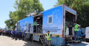 Yangın bölgesinde toplam 18 bin 650 kişilik yemek dağıttı
