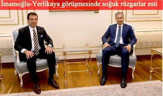 Vali Yerlikaya'dan İBB Başkanı İmamoğlu'na ziyaret