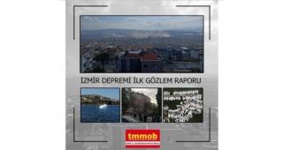 30 Ekim 2020 İzmir Depremi İlk Gözlem Raporu