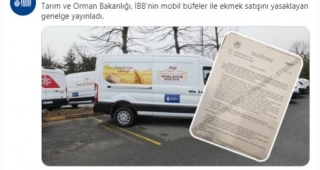 İBB'nin 'Mobil Ekmek Büfeleri'ne Bakanlık engeli