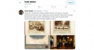 Tarihi Lisenin Müdürü Atatürk'ü unutup Abdülhamid'e Teşekkür Etti, Mezunlar Ayaklandı