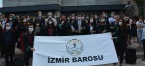 Ankara'da Baro Başkanlarına Yönelik Müdahale İzmir Adiyesi Önünde Protesto Edildi